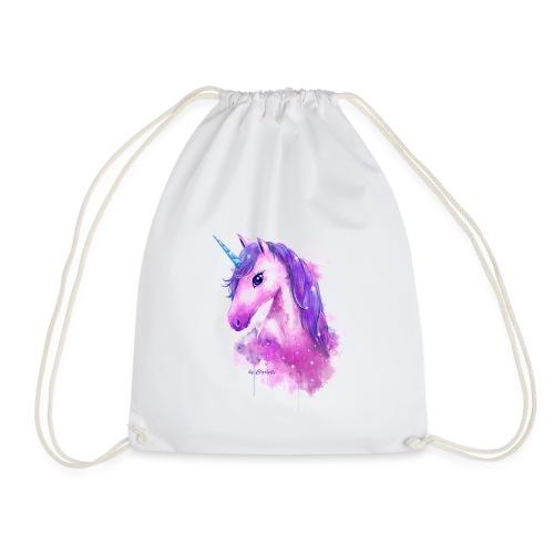 Unicorn by Clarielle LOGO NEU - Turnbeutel