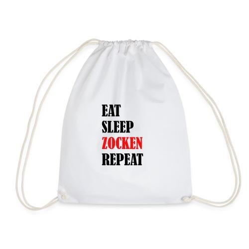EAT SLEEP ZOCKEN REPEAT - Turnbeutel