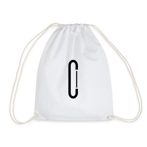 Cw0 Official Logo Slipper Black White - Drawstring Bag