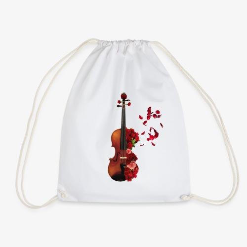 Rosen Violine - Turnbeutel