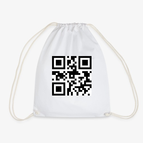 QR Code Unique - Drawstring Bag