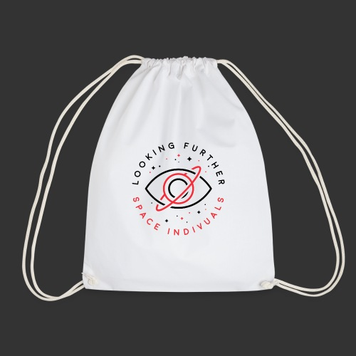 Space Individuals - Looking Further White - Drawstring Bag