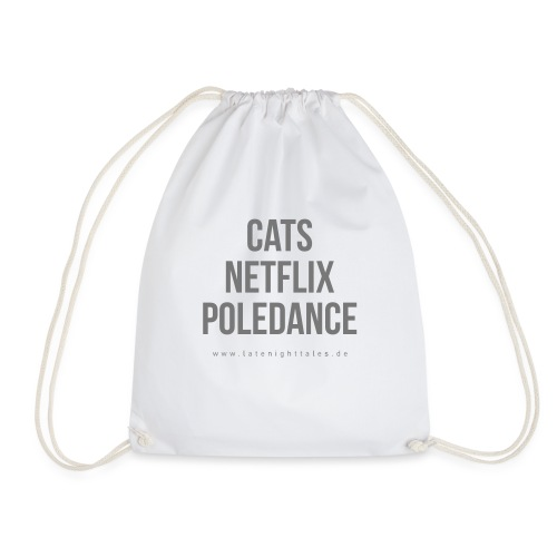 Cats Poledance - GREY - Turnbeutel