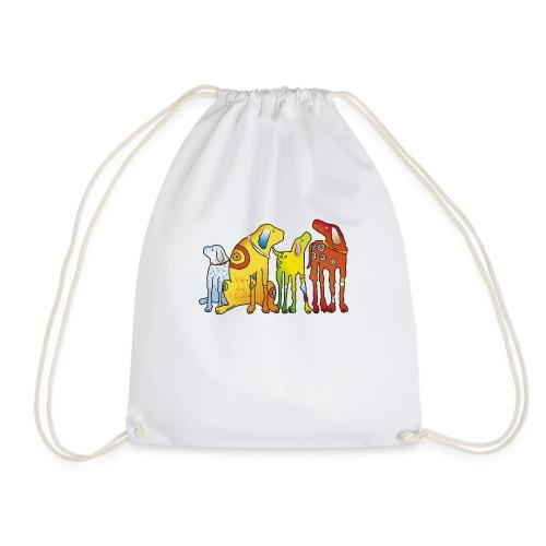 Hunde Meute Pinscher beste Freunde treues Haustier - Drawstring Bag