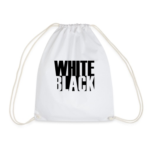 White, Black T-shirt - Gymtas