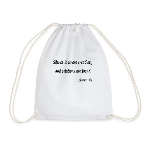 Silence and Creativity - Drawstring Bag