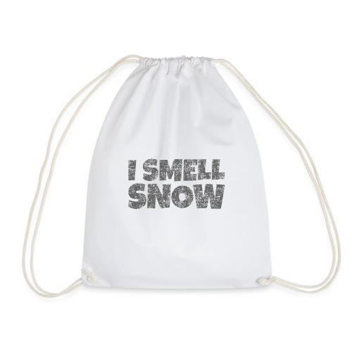 I Smell Snow (Dunkelgrau) Schnee, Wintersport, Ski - Turnbeutel