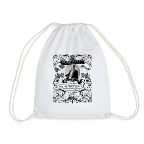 Charles Darwin Origin of Species - Drawstring Bag