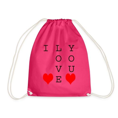 I Love You - Drawstring Bag