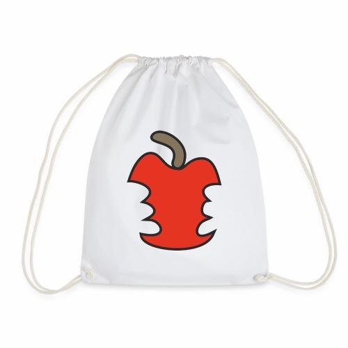 Apfel angebissen - Turnbeutel