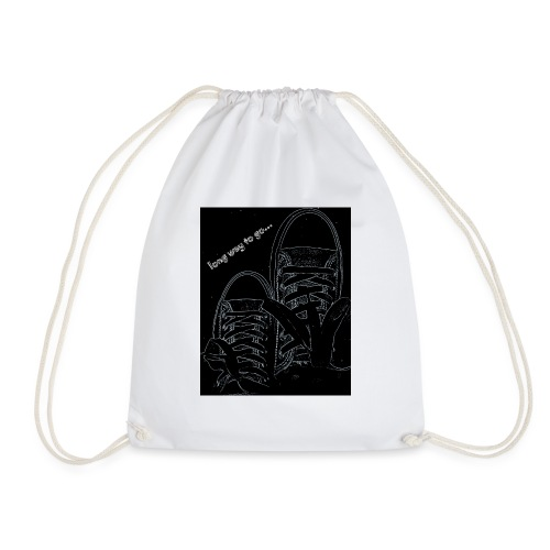 Long way to go - Drawstring Bag