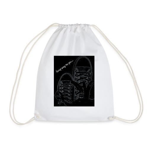 Long way to go - Drawstring Bag