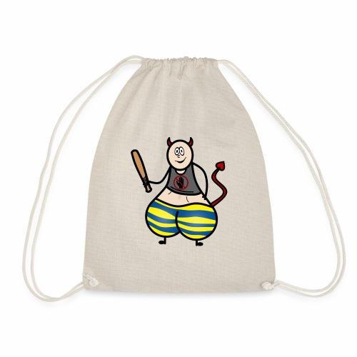 Devil No Touchies Charlie - Drawstring Bag