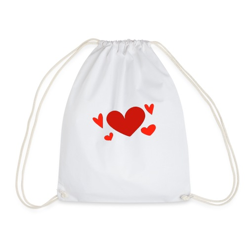 Five hearts - Drawstring Bag