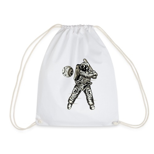 Space Baseball Astronaut - Drawstring Bag
