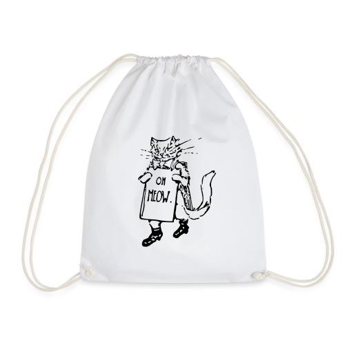 Funny cat - Drawstring Bag
