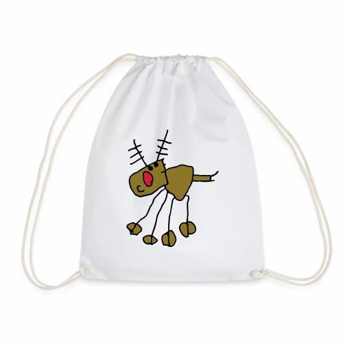 awesome kids rudolph reindeer - Drawstring Bag