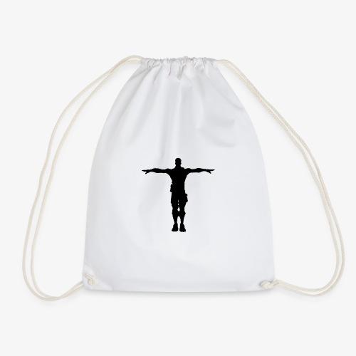 T-POSE FORT NITE (BLACK) (FULL SIZE) - Drawstring Bag