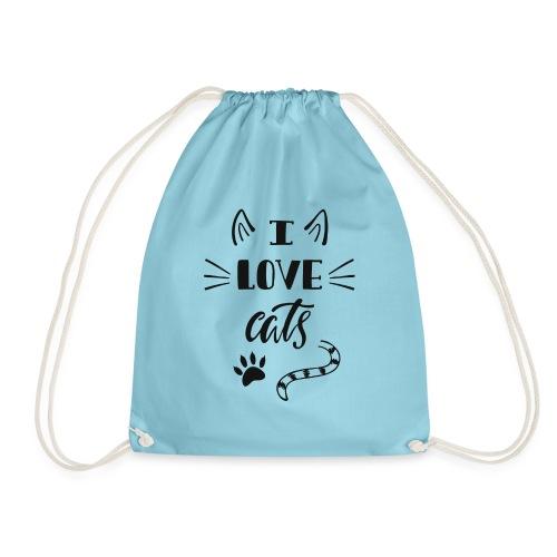 I love cats - Turnbeutel