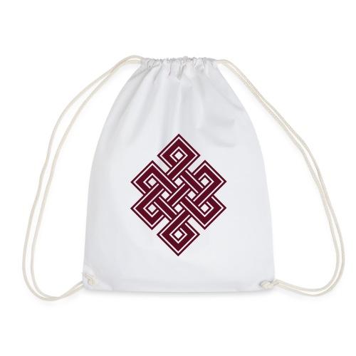 Endlos Knoten, Tibet, Unendlich, Buddhismus, Glück - Turnbeutel