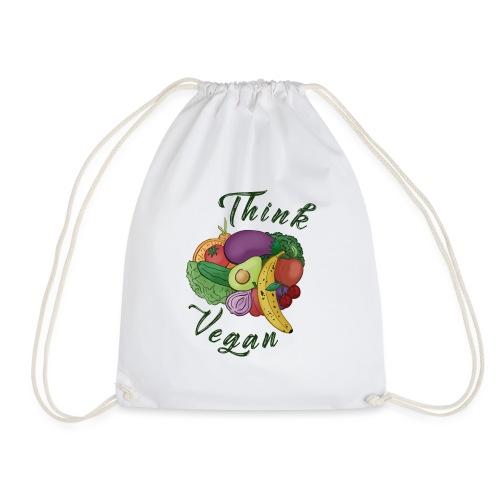 Think Vegan dunkel - Drawstring Bag