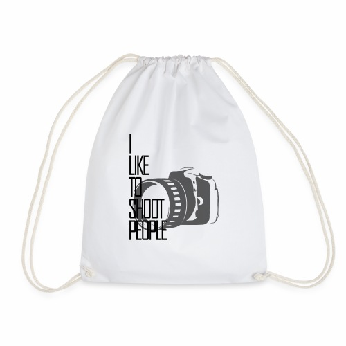 I like to shoot people - Drawstring Bag