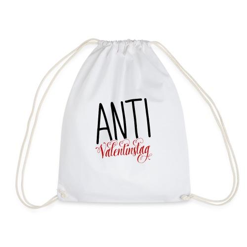 Anti Valentinstag Logo - Turnbeutel