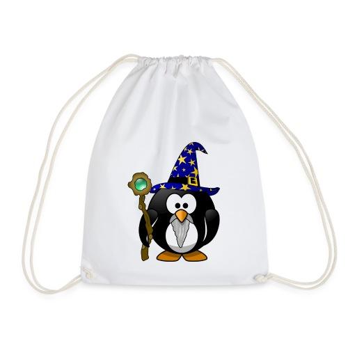 Gandalf der Pinguin mit Zauberstab! Geschenk - Turnbeutel
