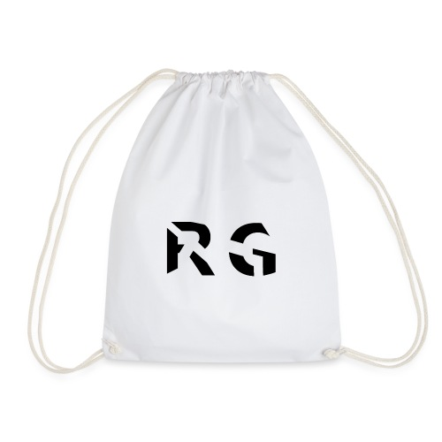 RG Black logo - Drawstring Bag