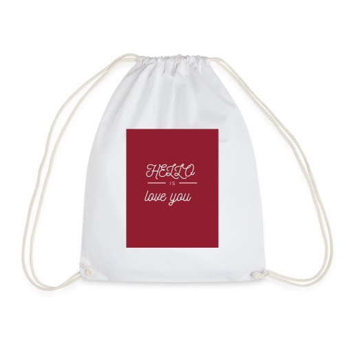 hello is love you - Sac de sport léger