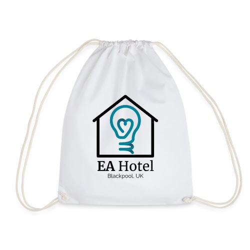 EA Hotel logo 1 black - Drawstring Bag