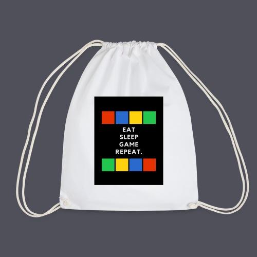 Eat, Sleep, Game, Repeat T-shirt - Drawstring Bag