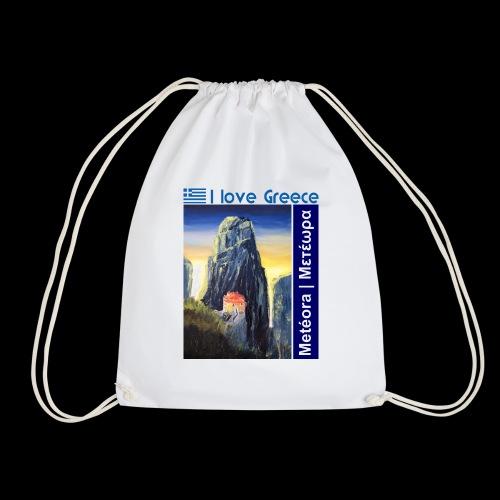 I love Greece. Blue Meteora - Turnbeutel