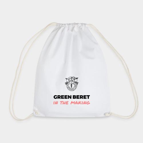 Green Beret in the Making - Drawstring Bag