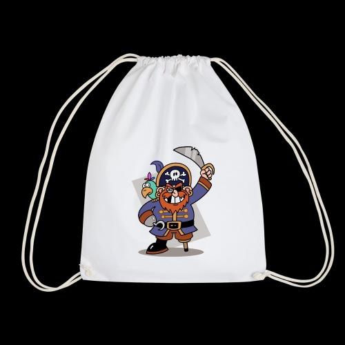 Pirat Zahnlücke mit Farbagallo - Turnbeutel