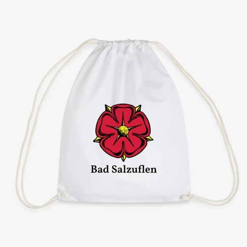 Lippische Rose mit Unterschrift Bad Salzuflen - Turnbeutel