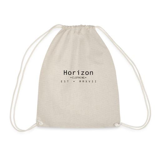 Black Horizon Logo - Drawstring Bag