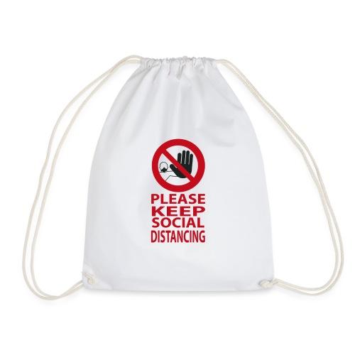 PLEASE KEEP SOCIAL DISTANCING - Sacca sportiva