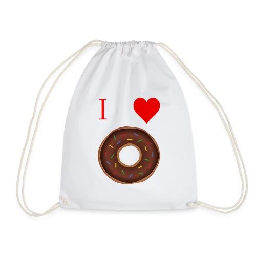 I ♥ donuts | T-shirt | Tiener/Man - Gymtas