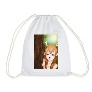 Womens tank: Deer-girl Design by Tina Ditte - Drawstring Bag