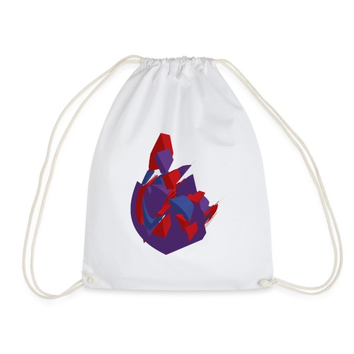 Purple Vector Heart - Drawstring Bag