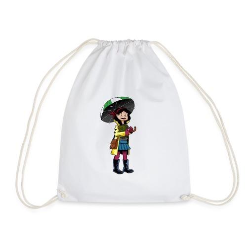 Chica con Paraguas - Mochila saco