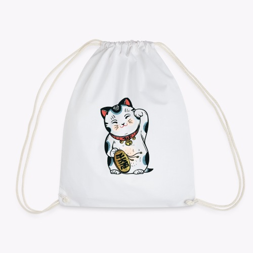 The Lucky Cat - Drawstring Bag