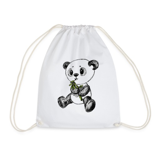 Panda bear colored scribblesirii - Drawstring Bag