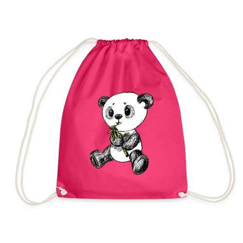 Panda bjørn farvet scribblesirii - Sportstaske