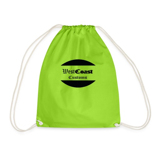 west coast customs - Drawstring Bag