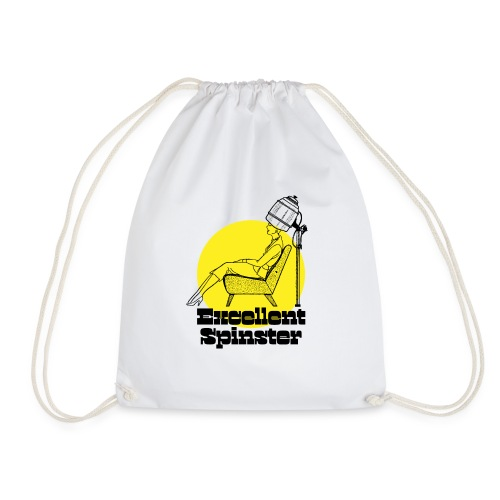 excellent spinster hairdo - Drawstring Bag