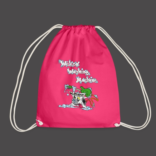 Wicked Washing Machine Cartoon and Logo - Gymtas