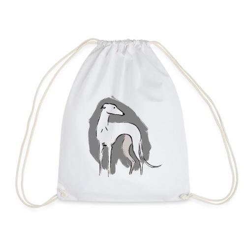 Weißer Windhund - Turnbeutel