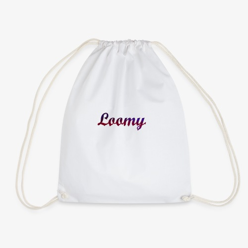 Loomy_Text_Red_And_Blue - Drawstring Bag